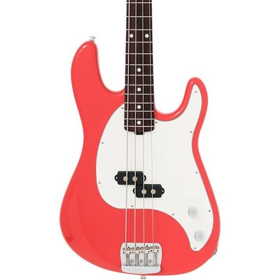 Music Man Cutlass Bass Coral Red +Case
