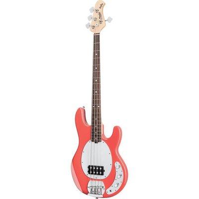 Sterling by Music Man RAY4 Basgitaar Fiesta Red