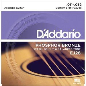 D'Addario EJ26 Snaren Phosphor Bronze Custom Light