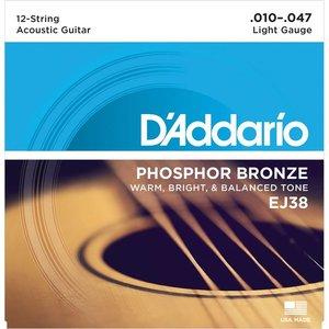 D'Addario EJ38 Snaren Phosphor Bronze Light 12-String