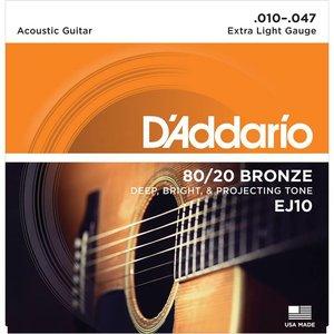 D'Addario EJ10 Snaren 80/20 Bronze Extra Light