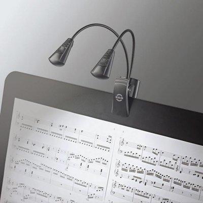 K&M 12243 Lessenaarlamp Double LED FlexLight Black