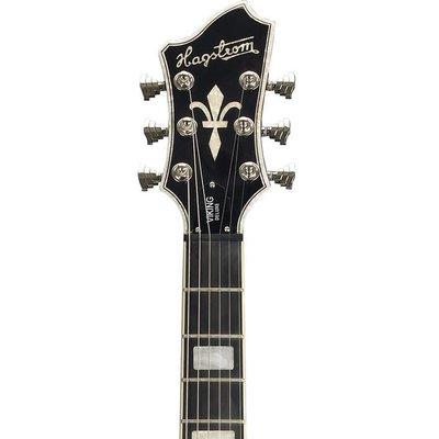 Hagstrom Tremar Viking Deluxe Hollowbody gitaar Black Gloss