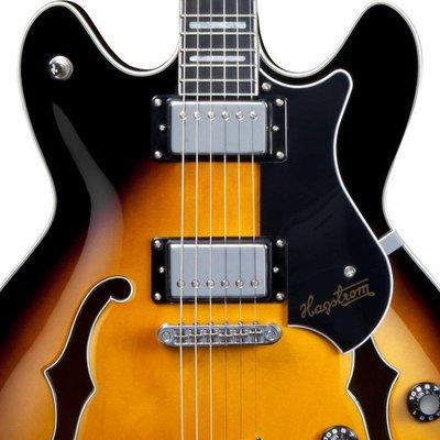Hagstrom Viking Hollowbody gitaar Tobacco Burst