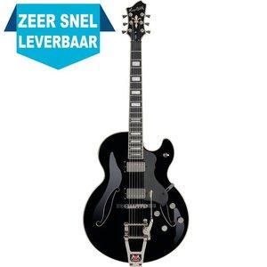 Hagstrom Tremar HJ500 Hollowbody gitaar Black Gloss