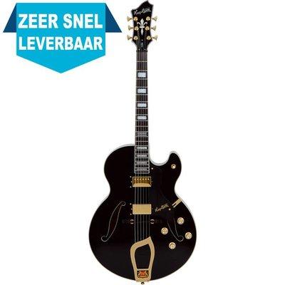 Hagstrom HJ500 Hollowbody gitaar Black Gloss