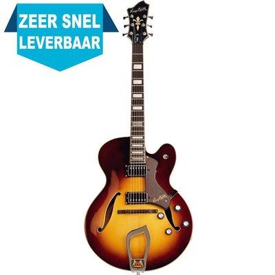 Hagstrom HJ800 Hollowbody gitaar Vintage Sunburst