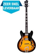 Hagstrom Viking Bass Hollowbody basgitaar Tobacco Sunburst