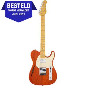 G&L Tribute ASAT Classic Bluesboy Semi-Hollow Elektrische gitaar Clear Orange