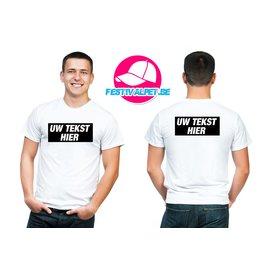 T-shirts opdruk A4 voorkant + achterkant MANNEN