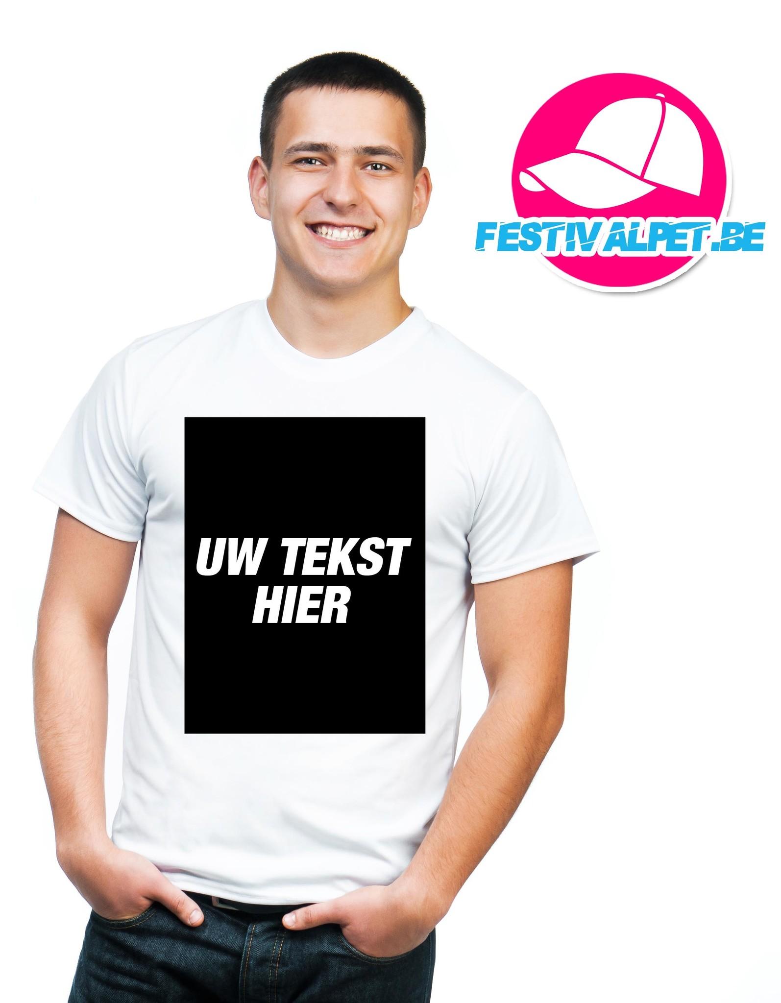T-shirts opdruk A3 voorkant + achterkant MANNEN  - Copy