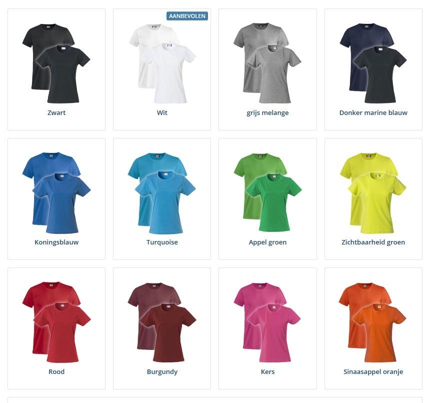 T-shirts borstopdruk links 10 stuks
