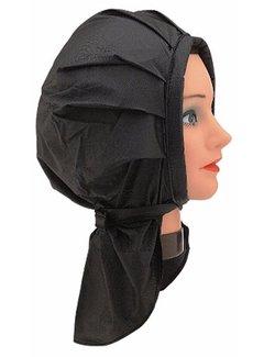 Sibel Plasti-Cap Velcro Permanent Muts Zwart