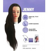 Sibel Sibel Oefenhoofd Jenny kastanjebruin -100% menselijk haar + gratis Eco Statief