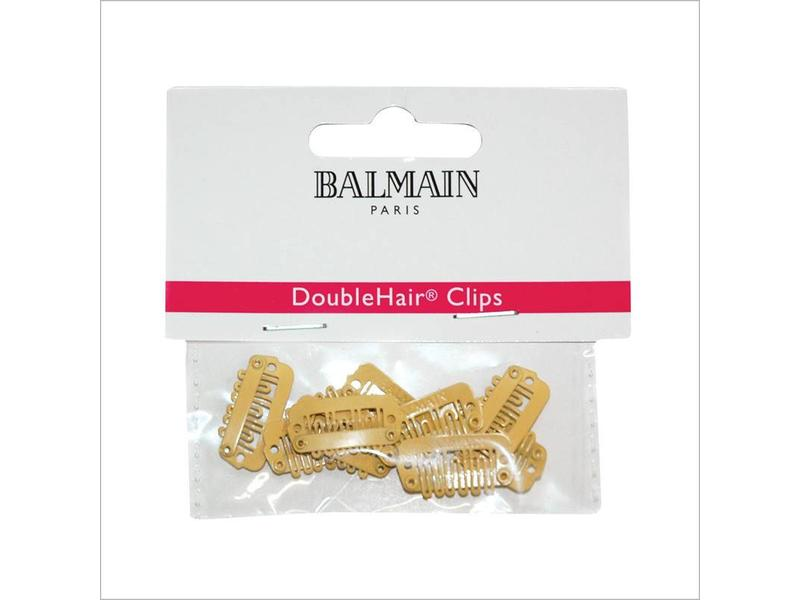 Balmain Double Hair Clips Beige 10 stuks