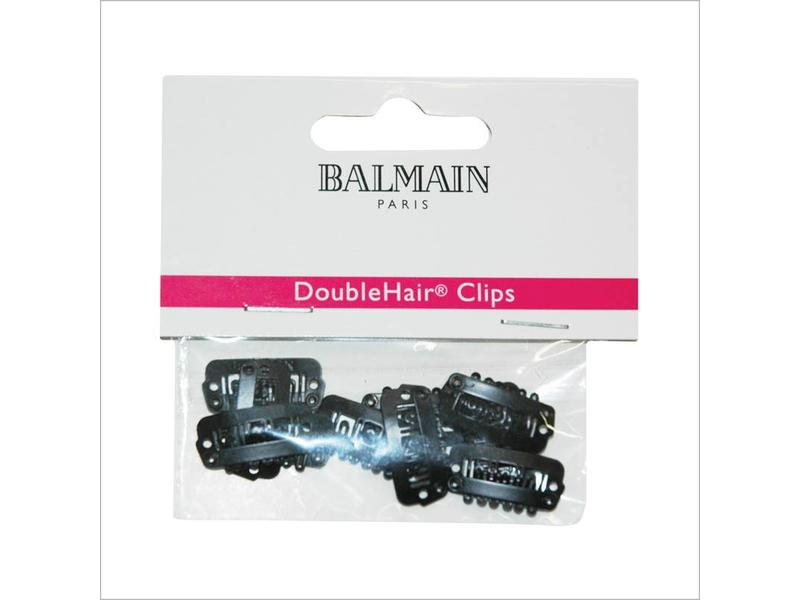Balmain Double Hair Clips Black 10 stuks