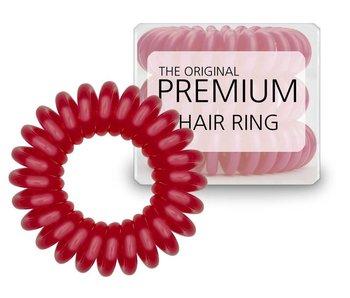 Original premium Hair Ring Aurora Red , per drie stuks