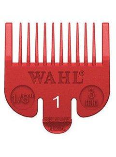 Wahl Opzetkam Plastic 3mm Rood ( gaat uit assortiment)