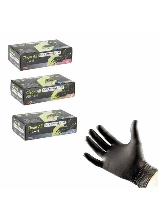 Sibel Handschoenen Nitrile Black