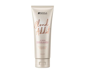 Indola Professional Blond Addict Wash Pinkrose Shampoo 250ml