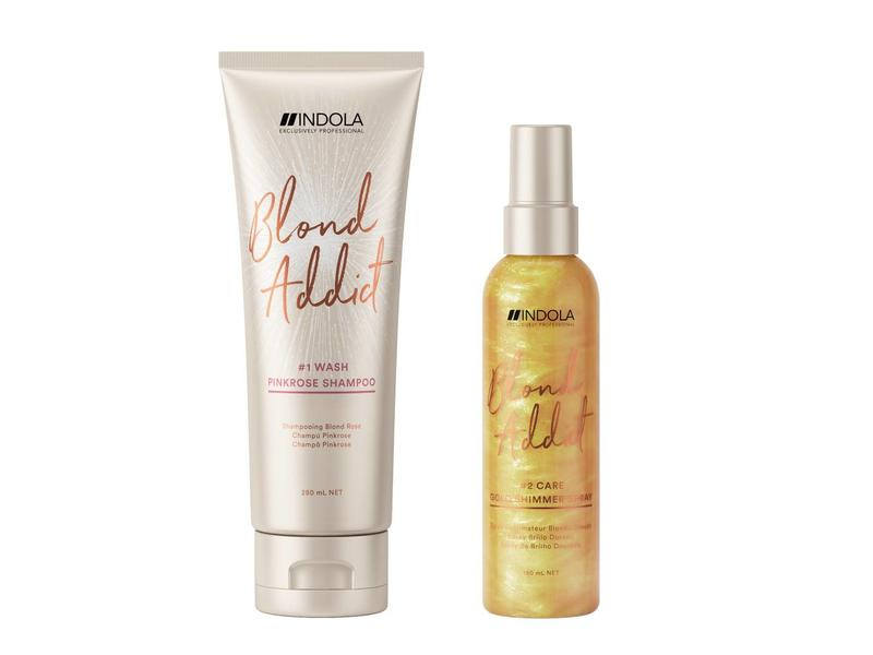 Indola Professional  Blond Addict Gold Shimmer Spray  150ml
