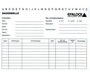 Efalock Behandeling kaarten wit