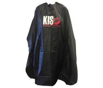 KIS Kapmantel XL, zwart met KIS logo