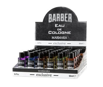 BARBER Cologne Display 6 x 6 50ml Mini