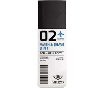 HAIRWAYS 02 - Wash & Shave 3 In 1 - 100 ml