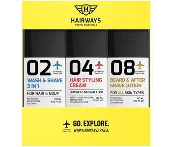 HAIRWAYS Travel Essentials Kit - 02-04-08