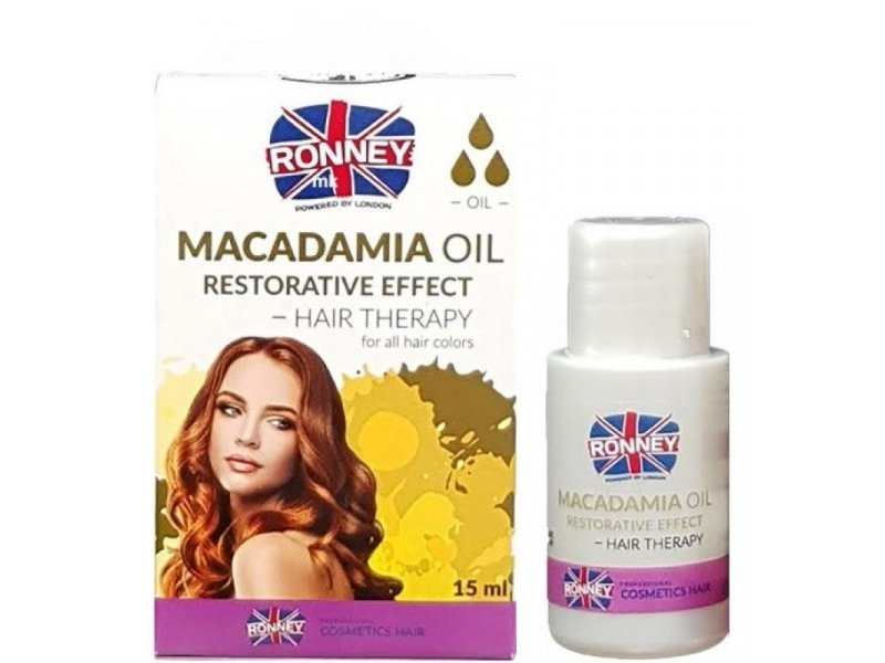 RONNEY Macadamia Oil Restorative Effect Olie 15ml
