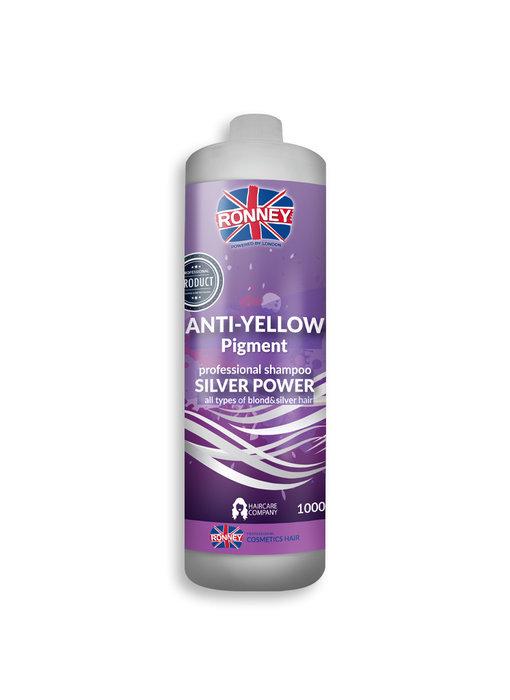 RONNEY Anti-Yellow Pigment Shampoo Silver Power 1000ml