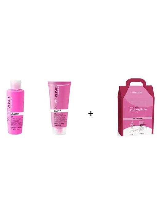 Inebrya No-Yellow Shampoo 100ml  + Mask 100ml  SET