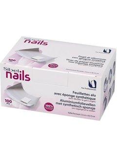 Sibel Nails Aluminium Folie Vellen met Synthetisch Sponsje