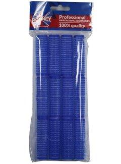 RONNEY Velcro Kleef Rollers  Blauw 16mm