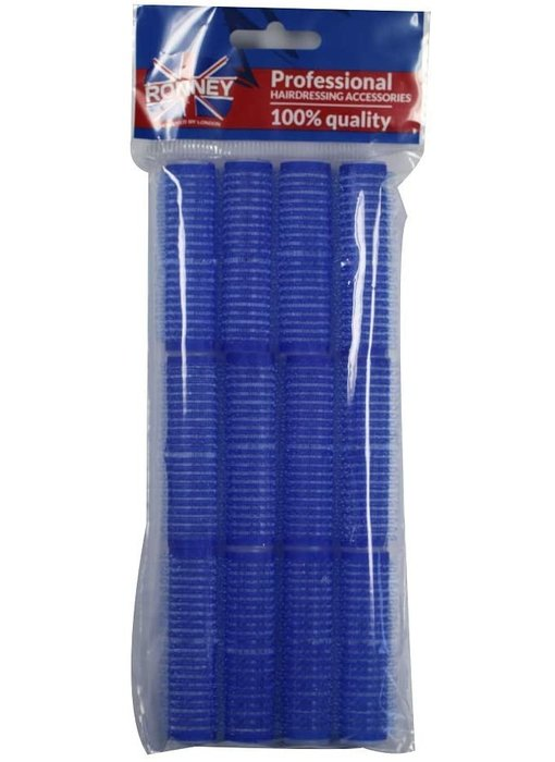 RONNEY Velcro Rollers  Blauw 16mm