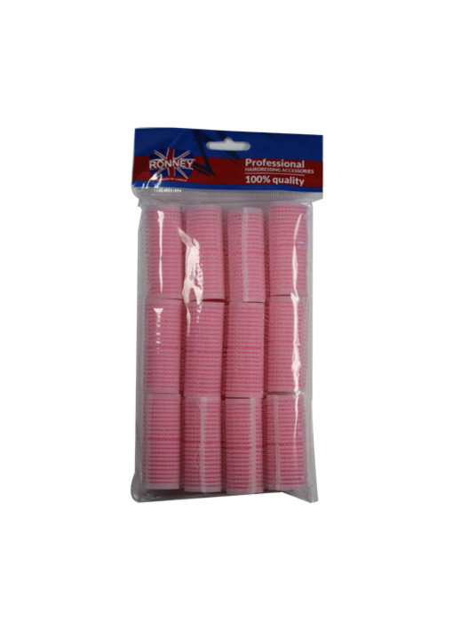 RONNEY Sponge Velcro Rollers Roze