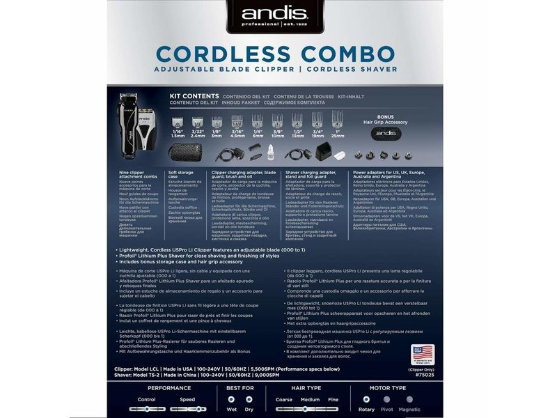 Andis Cordless Combi pack