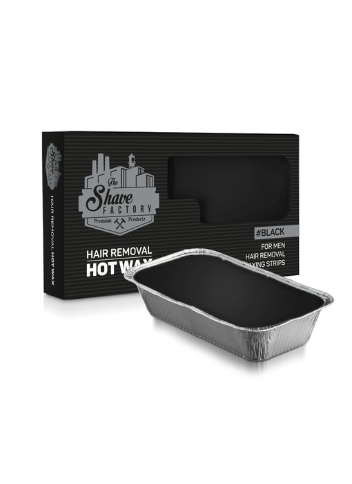 The Shave Factory Hot Wax For Men Black 500 Gr.