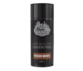 The Shave Factory Hair Building Keratin Fiber 21 Gr. Medium Brown