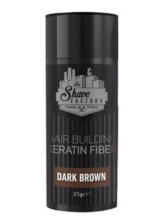 The Shave Factory Hair Building Keratin Fiber 21 Gr. Dark Brown