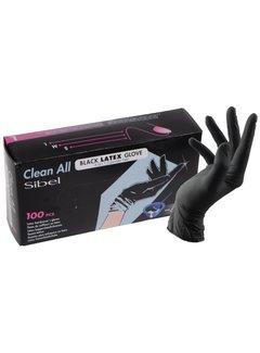 Sibel Black Latex Gloves