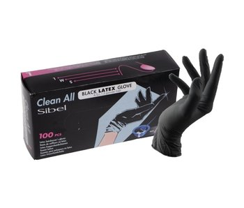 Sibel Black Latex Gloves