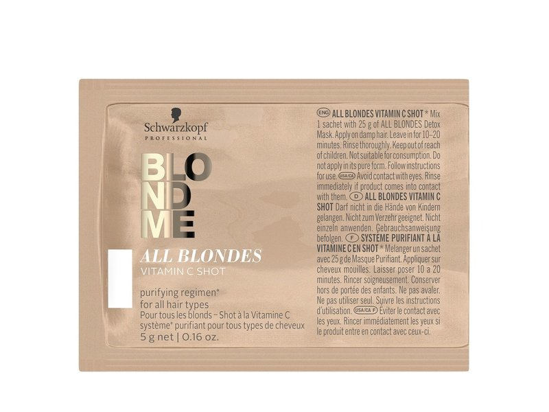 Schwarzkopf BlondMe All Blondes Detox Vitamin C Shots 5x 5Gr.