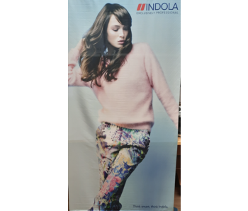 Indola Professional Banner Pink Flowers