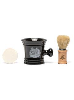 The Shave Factory Shave Set Black Mug