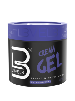 LEVEL3 Cream Gel - Glanzende Haar gel 1000ml