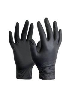 Abena Vitrile Handschoenen Zwart 100st.