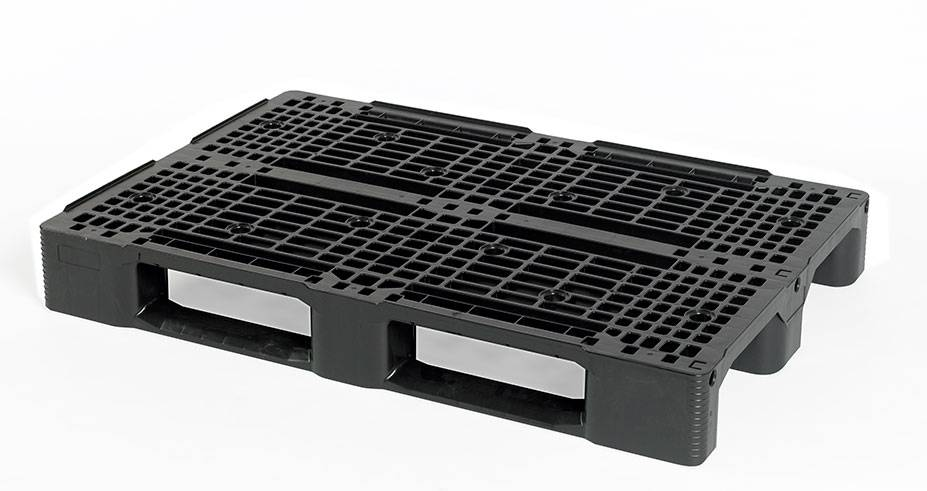 Kunststoff Euro-Palette 1200x800x150 mit 3 Kufen, Offenes Deck