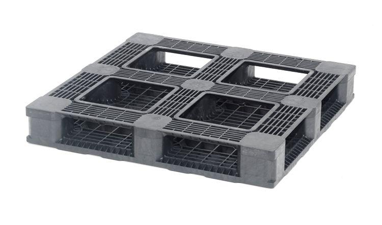 Kunststoff Containerpalette 1140x1140x165 mm, 6 Kufen, Offen Deck